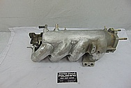 4 Cylinder Aluminum Intake Manifold BEFORE Chrome-Like Metal Polishing and Buffing Services - Aluminum Polishing