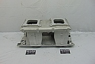 Edelbrock Tunnelram Aluminum Intake Manifold BEFORE Chrome-Like Metal Polishing and Buffing Services - Aluminum Polishing