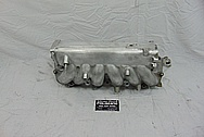 Toyota Supra 2JZ-GTE Aluminum Intake Manifold BEFORE Chrome-Like Metal Polishing and Buffing Services - Aluminum Polishing