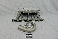 Toyota Supra 2JZ-GTE Aluminum Intake Manifold BEFORE Chrome-Like Metal Polishing and Buffing Services - Aluminum Polishing