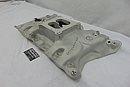 Oldsmobile 350 Offenhauser Aluminum Intake Manifold BEFORE Chrome-Like Metal Polishing and Buffing Services / Restoration Services - Aluminum Polishing