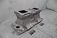 BBC Weiand 5981 Aluminum Intake Manifold BEFORE Chrome-Like Metal Polishing and Buffing Services / Restoration Services - Aluminum Polishing