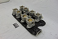 SBF (Small Block Ford) Aluminum Intake Manifold and Carburetors BEFORE Chrome-Like Metal Polishing and Buffing Services / Restoration Services - Aluminum Polishing