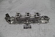 Offenhauser 3 Deuce Flat Head V8 Intake Manifold BEFORE Chrome-Like Metal Polishing - Aluminum Polishing