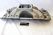 V8 Aluminum Intake Manifold BEFORE Chrome-Like Metal Polishing and Buffing Services