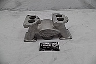 Eddie Meyer Aluminum Flathead Intake Manifold BEFORE Chrome-Like Metal Polishing - Aluminum Polishing