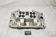 Edelbrock Dual Quad Oval Port Aluminum Intake Manifold BEFORE Chrome-Like Metal Polishing - Aluminum Polishing