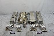 TPI Aluminum Intake Manifold System BEFORE Chrome-Like Metal Polishing - Aluminum Polishing