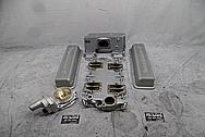 1957 Chevrolet Corvette Rochester Fuel Injection Aluminum Intake Manifold BEFORE Chrome-Like Metal Polishing - Aluminum Polishing