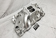 Edelbrock Performer RPM Aluminum Intake Manifold BEFORE Chrome-Like Metal Polishing - Aluminum Polishing - Intake Polishing