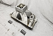 Brodix Aluminum Intake Manifold BEFORE Chrome-Like Metal Polishing - Stainless Steel Polishing - Aluminum Polishing