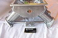 V8 Aluminum Sheet Metal Intake Manifold BEFORE Chrome-Like Metal Polishing and Buffing Services