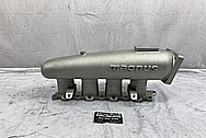 Magnus Aluminum 4 Cylinder Intake Manifold BEFORE Chrome-Like Metal Polishing - Aluminum Polishing