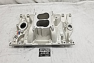 Edelbrock Aluminum Intake Manifold BEFORE Chrome-Like Metal Polishing - Aluminum Polishing