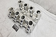 Inglese Aluminum Intake Manifold BEFORE Chrome-Like Metal Polishing - Aluminum Polishing