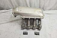 Aluminum Intake Manifold BEFORE Chrome-Like Metal Polishing - Aluminum Polishing