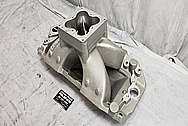 Brodix Aluminum Intake Manifold BEFORE Chrome-Like Metal Polishing and Buffing Services - Aluminum Polishing Services