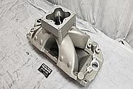Brodix Aluminum Intake Manifold BEFORE Chrome-Like Metal Polishing and Buffing Services - Aluminum Polishing Services