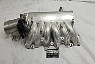 1993 - 1998 Toyota Supra Aluminum Upepr and Lower Intake Manifold BEFORE Chrome-Like Metal Polishing and Buffing Services - Aluminum Polishing