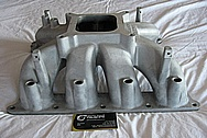 Ford Mustang V8 Aluminum Sullivan Lower Intake Manifold BEFORE Chrome-Like Metal Polishing and Buffing Services