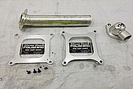 Aluminum Intake Manifold Spacers BEFORE Chrome-Like Metal Polishing and Buffing Services - Aluminum Polishing