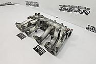 Aluminum 6 Cylinder Intake Manifold BEFORE Chrome-Like Metal Polishing and Buffing Services - Aluminum Polishing