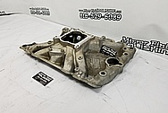 Edelbrock Aluminum 8 Cylinder Intake Manifold BEFORE Chrome-Like Metal Polishing and Buffing Services - Aluminum Polishing
