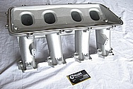 GM Holley EFI LS1 V8 Aluminum Intake Manifold BEFORE Chrome-Like Metal Polishing and Buffing Services