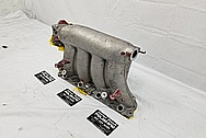 Honda Aluminum 4 Cylinder Intake Manifold BEFORE Chrome-Like Metal Polishing and Buffing Services - Aluminum Polishing