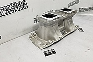 Weiand Aluminum V8 Intake Manifold BEFORE Chrome-Like Metal Polishing and Buffing Services - Aluminum Polishing