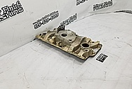 Aluminum V8 Intake Manifold BEFORE Chrome-Like Metal Polishing and Buffing Services / Restoration Services - Aluminum Polishing