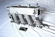 Honda S2000 Aluminum 4 Cylinder Intake Manifold BEFORE Chrome-Like Metal Polishing and Buffing Services