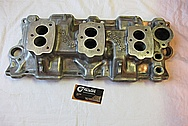 Chevrolet Corvette Aluminum V8 Intake Manifold BEFORE Chrome-Like Metal Polishing and Buffing Services