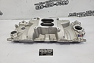 Edelbrock Performer RPM Aluminum 8 Cylinder Intake Manifold Project BEFORE Chrome-Like Metal Polishing and Buffing Services / Restoration Services - Aluminum Polishing