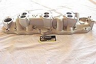 Edelbrock Aluminum Intake Manifold BEFORE Chrome-Like Metal Polishing and Buffing Services