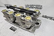 Ingles Aluminum Intake Manifold, Throttle Bodies and Stacks BEFORE Chrome-Like Metal Polishing and Buffing Services / Restoration Services - Aluminum Polishing