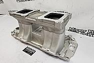 Weiand Aluminum V8 Intake Manifold BEFORE Chrome-Like Metal Polishing and Buffing Services / Restoration Services - Aluminum Polishing