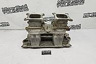 Edelbrock Aluminum V8 Intake Manifold BEFORE Chrome-Like Metal Polishing and Buffing Services / Restoration Services - Aluminum Polishing