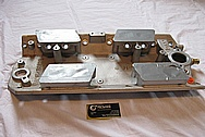 Ram Jet Performance Parts Aluminum Intake Manifold BEFORE Chrome-Like Metal Polishing and Buffing Services