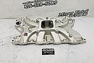 Edelbrock Torker II Aluminum Intake Manifold BEFORE Chrome-Like Metal Polishing and Buffing Services - Aluminum Polishing Service - Intake Polishing
