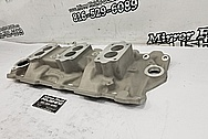 Offenhauser V8 Aluminum Intake Manifold and Cylinder Head Project BEFORE Chrome-Like Metal Polishing and Buffing Services - Intake Manifold Polishing Services