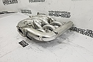 Aluminum V8 Intake Manifold BEFORE Chrome-Like Metal Polishing and Buffing Services - Intake Polishing Services