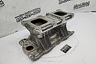 Weiand V8 Aluminum Intake Manifold BEFORE Chrome-Like Metal Polishing - Aluminum Polishing - Intake Manifold Polishing