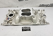 Edelbrock Performer RPM V8 Aluminum Intake Manifold BEFORE Chrome-Like Metal Polishing - Aluminum Polishing - Intake Manifold Polishing
