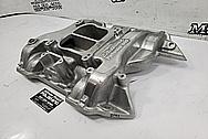 Edelbrock Aluminum V8 Intake Manifold BEFORE Chrome-Like Metal Polishing and Buffing Services / Restoration Services - Intake Manifold Polishing