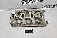 Weiand Aluminum Intake Manifold BEFORE Chrome-Like Metal Polishing and Buffing Services / Restoration Services - Intake Polishing - Aluminum Polishing