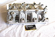 Mistubishi EVO X Aluminum Intake Manifold BEFORE Chrome-Like Metal Polishing and Buffing Services