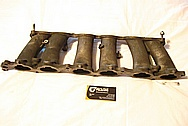 1993 - 1998 Toyota Supra 2JZ - GTE Aluminum Lower Intake Manifold BEFORE Chrome-Like Metal Polishing and Buffing Services
