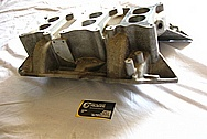 Aluminum Intake Manifold BEFORE Chrome-Like Metal Polishing and Buffing Services