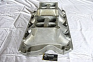 Aluminum Tunnel Ram Intake Manifold BEFORE Chrome-Like Metal Polishing and Buffing Services